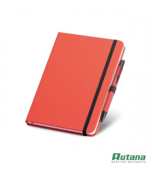 """Užrašų knygutė A5 su tušinuku dėkle """"Shaw"""" raudona HD 93795-105"""