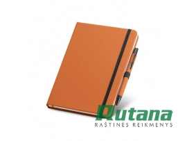 """Užrašų knygutė A5 su tušinuku dėkle """"Shaw"""" oranžinis HD 93795-128"""