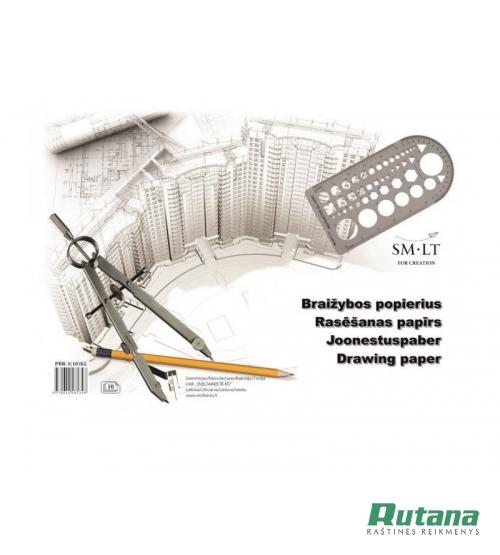 Popierius braižybai A3 10 lapų 160g PBR-3(10)KL