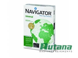 Universalus biuro popierius NAVIGATOR UNIVERSAL 80g A4 500l.