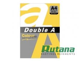Spalvotas biuro popierius Double A auksinė A4 80g 100l.