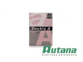 Spalvotas biuro popierius Double A rožinė A4 80g 500l.
