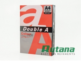 Spalvotas biuro popierius Double A raudona A4 80g 500l.