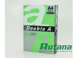 Spalvotas biuro popierius Double A papūgų žalia A4 80g 500l.