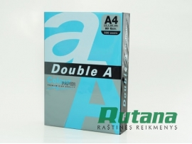 Spalvotas biuro popierius Double A tamsiai mėlyna A4 80g 500l.