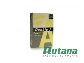 Spalvotas biuro popierius Double A citrinų geltonumo A4 80g 500l.