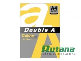 Spalvotas biuro popierius Double A auksinė A4 80g 500l.