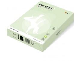 Spalvotas biuro popierius Maestro Color šviesiai žalia A4 80g 500l. GN27