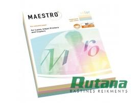 Spalvoto biuro popieriaus Maestro Color 5 spalvų rinkinys A4 80g 200l.