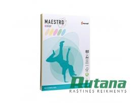 Spalvoto biuro popieriaus Maestro Color ryškių spalvų rinkinys A4 80g 250l.