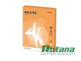Spalvotas biuro popierius Maestro Color neoninė oranžinė A4 80g 500l. NEOOR