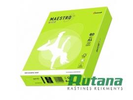 Spalvotas biuro popierius Maestro Color neoninė žalia A4 80g 500l. NEOGN