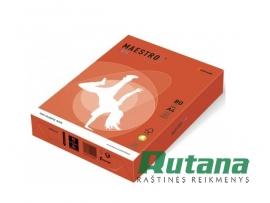 Spalvotas biuro popierius Maestro Color plytų raudona A4 80g 500l. ZR09