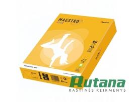Spalvotas biuro popierius Maestro Color saulės geltona A4 80g 500l. SY40