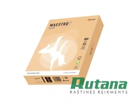 Spalvotas biuro popierius Maestro Color lašišos sp. A4 80g 500l. SA24