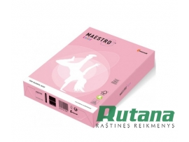 Spalvotas biuro popierius Maestro Color rožinė A4 80g 500l. PI25