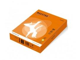 Spalvotas biuro popierius Maestro Color oranžinė A4 80g 500l. OR43