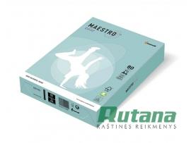 Spalvotas biuro popierius Maestro Color žydra A4 80g 500l. MB30