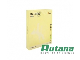 Spalvotas biuro popierius Maestro Color geltonas A4 80g 500l. YE23