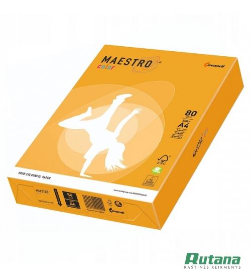 Spalvotas biuro popierius Maestro Color senojo aukso sp. A4 80g 500l. AG10