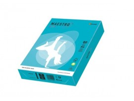 Spalvotas biuro popierius Maestro Color mėlyna A4 80g 500l. AB48