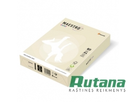 Spalvotas biuro popierius Maestro Color vanilės sp. A4 80g 500l. BE66