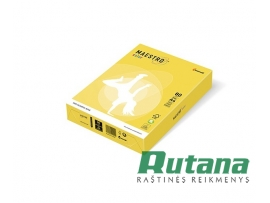 Spalvotas biuro popierius Maestro Color kanarėlės geltona sp. A4 80g 500l. CY39