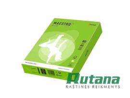 Spalvotas biuro popierius Maestro Color ryškiai žalia A4 80g 500l. MA42