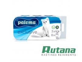 Tualetinis popierius 8 vnt. Paloma Exclusive 01356
