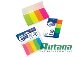 Lipnūs plastikiniai žymekliai - indeksai 20 x 50 mm 4 spalvų Forpus 42027