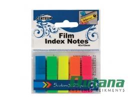 Lipnūs plastikiniai žymekliai - indeksai 12 x 45 mm 5 spalvų Centrum 80408