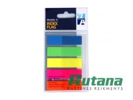 Lipnūs plastikiniai žymekliai - indeksai 12 x 45 mm 5 spalvų Double A 100820