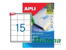 Lipnios etiketės A4/70 x 50.8 mm 100 lapų Apli 01295