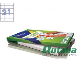 Lipnios etiketės A4/70 x 42.4 mm 100 lapų Forpus 41518