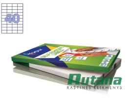 Lipnios etiketės A4/52.5 x 29.7 mm 100 lapų Forpus 41505