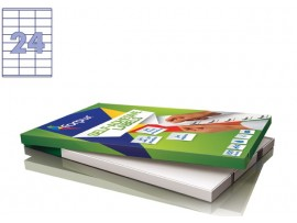 Lipnios etiketės A4/70 x 36 mm 100 lapų Forpus 41515