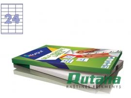 Lipnios etiketės A4/70 x 35 mm 100 lapų Forpus 41514