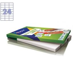 Lipnios etiketės A4/70 x 37 mm 100 lapų Forpus 41516