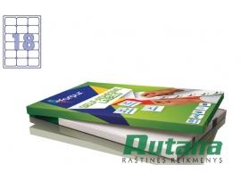 Lipnios etiketės A4/63.5 x 46.6 mm 100 lapų Forpus 41507
