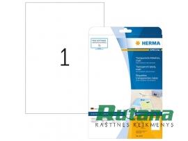 Lipnios etiketės A4/210 x 297 mm 25 lapai skaidrios Herma 4375