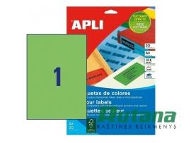 Lipnios etiketės A4/210 x 297 mm 20 lapų žalios sp. Apli 01602