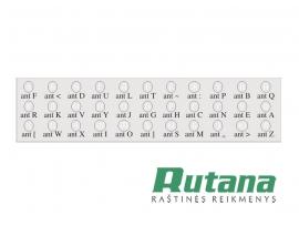 Lipdukai klaviatūrai su rusų kalbos raidėmis baltos sp.