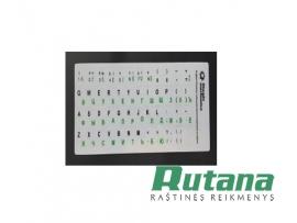 Lipdukai juodos/žalios sp. klaviatūrai EN RU LT