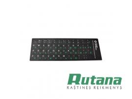 Lipdukai juodos sp. klaviatūrai EN RU LT 31683