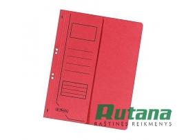 Kartoninis segtuvėlis A4 su puse viršelio raudonas Herlitz 10837003