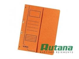 Kartoninis segtuvėlis A4 su puse viršelio oranžinis Herlitz 10837359