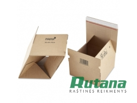 Dėžutė kartoninė siuntiniams 200x200x100mm ruda Master'In Performance