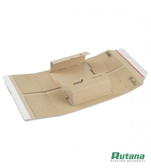 Pakuotė kartoninė siuntiniams 230x165x15-80mm ruda Master'In Performance