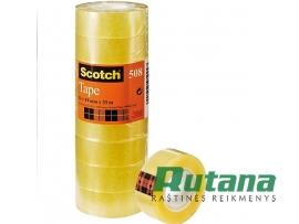 Lipni juostelė 19 mm x 33 m skaidri Scotch 508