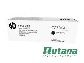 Kasetė lazeriniam spausdintuvui CC530AC juoda Hewlett-Packard
